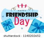 happy friendship day  greeting...   Shutterstock .eps vector #1140202652