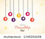 happy friendship day  greeting...   Shutterstock .eps vector #1140202658