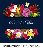 save the date wedding greeting... | Shutterstock .eps vector #1140204428