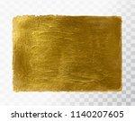 vector gold paint brush stroke  ...   Shutterstock .eps vector #1140207605