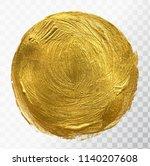vector gold paint brush stroke  ...   Shutterstock .eps vector #1140207608