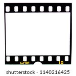 old fashioned 35mm filmstrip or ... | Shutterstock . vector #1140216425