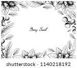 berry fruit  illustration frame ... | Shutterstock .eps vector #1140218192