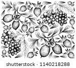 berry fruit  illustration hand... | Shutterstock .eps vector #1140218288