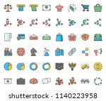 business colored icon | Shutterstock .eps vector #1140223958