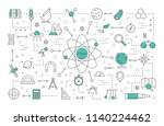 science concept illustration.... | Shutterstock .eps vector #1140224462