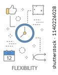 time management concept. idea... | Shutterstock .eps vector #1140226028