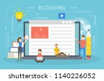 blog concept illustration....   Shutterstock .eps vector #1140226052