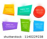 colorful origami style tags... | Shutterstock .eps vector #1140229238