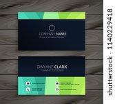 stylish dark business card... | Shutterstock .eps vector #1140229418