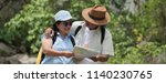 senior couple travel together... | Shutterstock . vector #1140230765