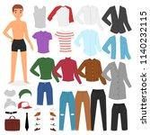 man clothing vector boy... | Shutterstock .eps vector #1140232115