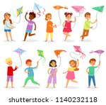 kids kite vector child... | Shutterstock .eps vector #1140232118