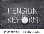 pension reform phrase written... | Shutterstock . vector #1140232688