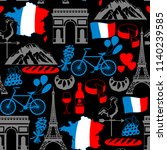 france seamless pattern. french ... | Shutterstock .eps vector #1140239585