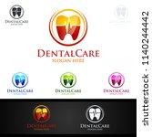 dental logo tooth abstract... | Shutterstock .eps vector #1140244442