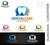 dental logo tooth abstract... | Shutterstock .eps vector #1140244508