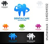 dental logo tooth abstract... | Shutterstock .eps vector #1140244532