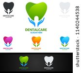 dental logo tooth abstract... | Shutterstock .eps vector #1140244538