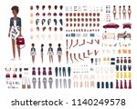 stylish african american woman... | Shutterstock .eps vector #1140249578