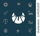 flat croissant icon. vector | Shutterstock .eps vector #1140251525