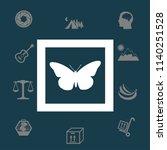 butterfly framed vector... | Shutterstock .eps vector #1140251528