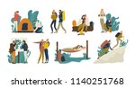 collection of young romantic... | Shutterstock .eps vector #1140251768
