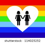 vector illustration of gay icon ... | Shutterstock .eps vector #114025252