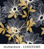 elegance pattern with flowers... | Shutterstock .eps vector #1140253385