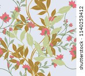 elegance pattern with flowers... | Shutterstock .eps vector #1140253412