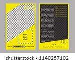 double sided flyer design    Shutterstock .eps vector #1140257102