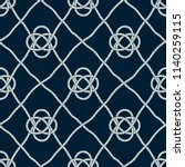 seamless nautical rope pattern. ... | Shutterstock .eps vector #1140259115