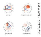 office  time management ... | Shutterstock .eps vector #1140259952