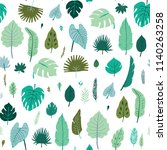 vector tropical palm leaves ... | Shutterstock .eps vector #1140263258