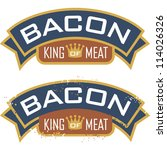 bacon symbol featuring the... | Shutterstock .eps vector #114026326
