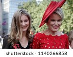 queen mathilde of belgium and... | Shutterstock . vector #1140266858