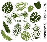stylish summer tropical palm... | Shutterstock .eps vector #1140268628