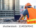 young asian engineer man... | Shutterstock . vector #1140269042