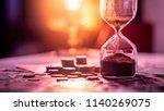 sand running through the shape... | Shutterstock . vector #1140269075