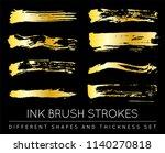 set of golden paint strokes to... | Shutterstock .eps vector #1140270818