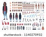 african american teenage boy... | Shutterstock .eps vector #1140270932