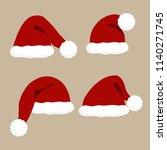santa christmas hat vector... | Shutterstock .eps vector #1140271745