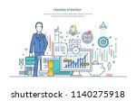 trading strategy. financial... | Shutterstock .eps vector #1140275918
