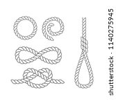set of various sea knots and... | Shutterstock .eps vector #1140275945