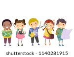 illustration of stickman kids... | Shutterstock .eps vector #1140281915
