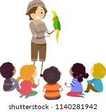 illustration of stickman kids... | Shutterstock .eps vector #1140281942
