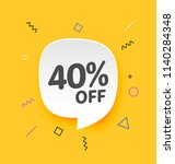 40  off  flat sales vector... | Shutterstock .eps vector #1140284348