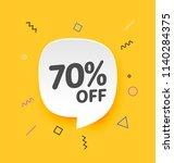 70  off  flat sales vector... | Shutterstock .eps vector #1140284375