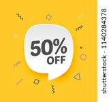 50  off  flat sales vector...   Shutterstock .eps vector #1140284378