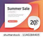 20  off  discount banner ... | Shutterstock .eps vector #1140284405